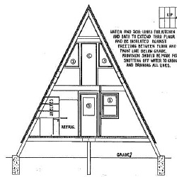 36 foot high A Frame House Plans
