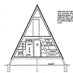 24 foot high A Frame House Plans